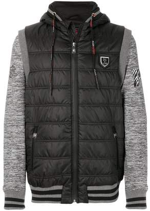 Plein Sport panelled sleeves quilted jacket