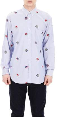 Comme des Garcons Embroidered Button-Up Shirt