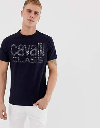 Class Roberto Cavalli t-shirt in navy with large logo