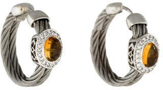 CharriolCharriol 18K Citrine & Diamond Hoop Earrings