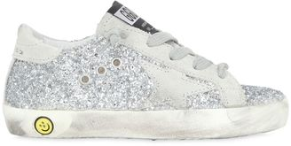 Super Star Glittered Leather Sneakers $240 thestylecure.com