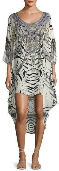 CamillaCamilla Embellished Scoop-Back Coverup Dress