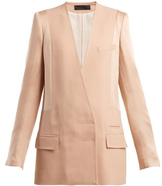 Haider Ackermann Kuiper Double Breasted Jacket - Womens - Light Pink