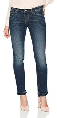 3.1 Phillip Lim Denim Bloom Women's Jeans Regular Rise Straight Leg with Released Raw Hem Size 26 Size 1 Size 2 Small