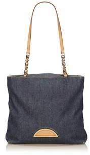 Dior Pre-owned: Denim Shoulder Bag.