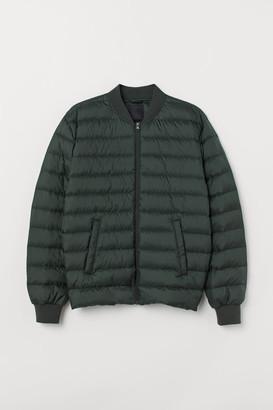 H&M Lightweight Down Jacket - Green