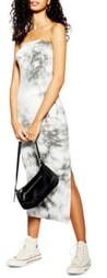 Topshop Strapless Tie Dye Bandeau Midi Dress