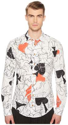 Vivienne Westwood House of Cards Stretch Shirt Men's Clothing