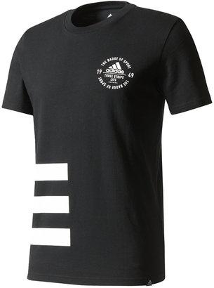 adidas Men's Cotton Three-Stripe T-Shirt $25 thestylecure.com