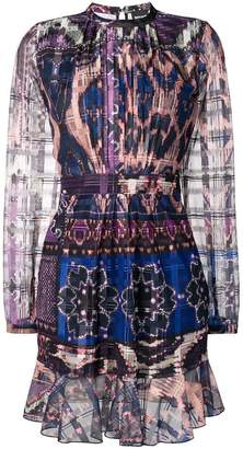 Just Cavalli abstract tulle dress