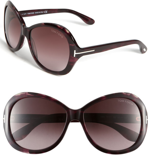 Tom Ford 'Cecile' Oversized Round Sunglasses
