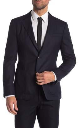 Ermenegildo Zegna Blue Giacca Formale Wool Sportcoat