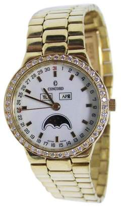 Concord 50.17.210 18K Yellow Gold with Diamonds Quartz 32.2mm Mens Watch
