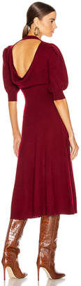 Jonathan Simkhai Cashmere Front Slit Dress in Oxblood | FWRD