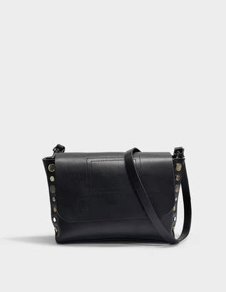 Zadig & Voltaire Readymade Clutch Bag in Black Cow Leather