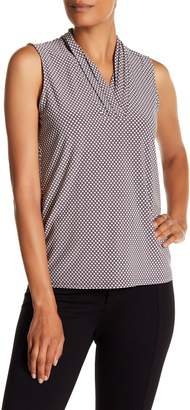 Anne Klein Triple Pleat V-Neck Tank