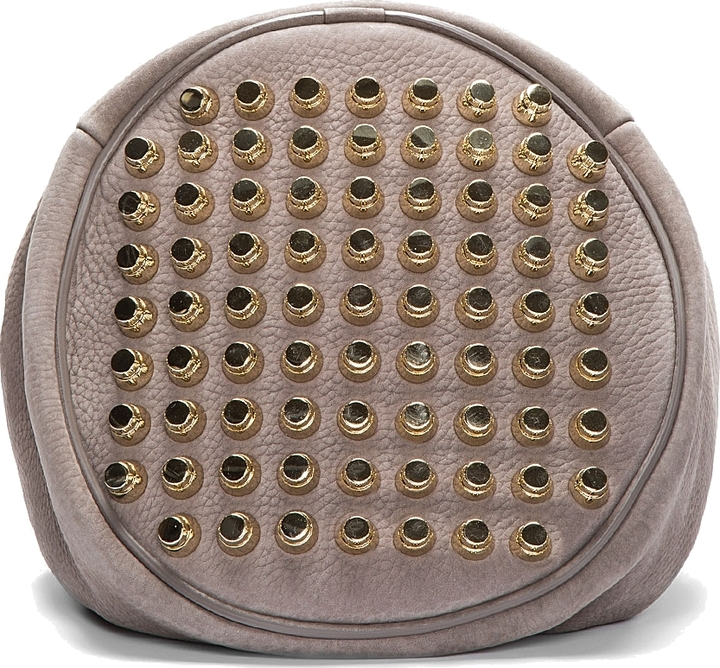 Alexander Wang Taupe Leather & Silver Studded Diego Bucket Bag