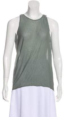 Helmut Lang Sleeveless Lace-Trimmed Top