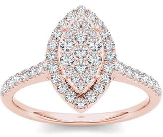 Imperial Diamond Imperial 3/4 Carat T.W. Diamond 10kt Rose Gold Marquise-Shape Engagement Ring