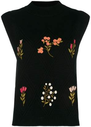 RED Valentino (レッド ヴァレンティノ) - Red Valentino floral knitted top