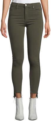Black Orchid Miranda Step-Hem Side-Stripe Skinny Ankle Jeans