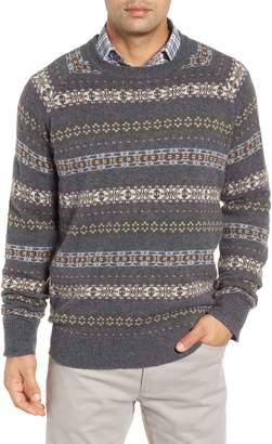 Peter Millar Mountainside Fair Isle Crewneck Sweater