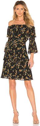 Bardot Ditsy Pleat Dress