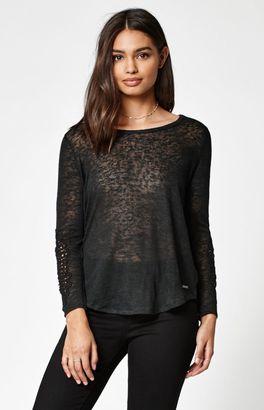 Element Maella Crochet Long Sleeve T-Shirt $45 thestylecure.com