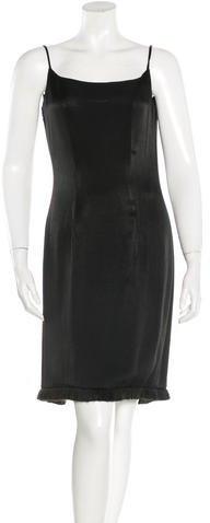 Christian Dior Sleeveless Fringe-Trimmed Dress