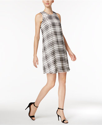 Calvin Klein Chiffon Trapeze Dress $99 thestylecure.com