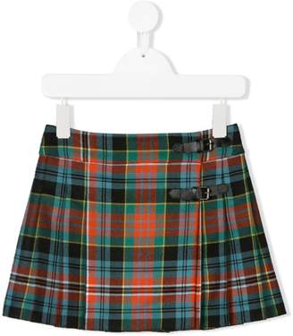 Bonpoint checked pleated skirt