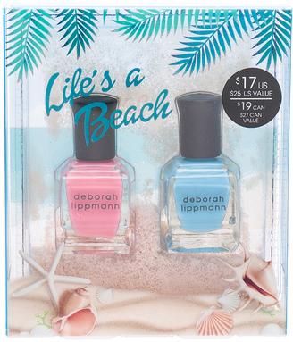 Deborah Lippmann 2 Piece Sand Globe Nail Lacquer Set $17 thestylecure.com