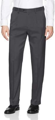 Savane Men's Pleated Stretch Crosshatch Dress Pant