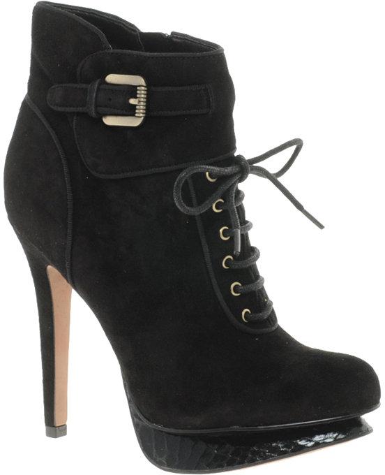 Sam Edelman Uma Leather Lace-Up Ankle Boot