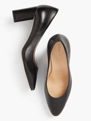 Talbots Kelsey Block-Heel Pumps - Leather