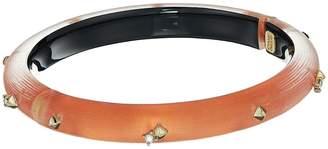 Alexis Bittar Golden Studded Hinge Bracelet Bracelet