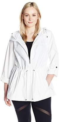 Details Women's Plus Size Printed Lightweight Anorak Parka in a Pocket