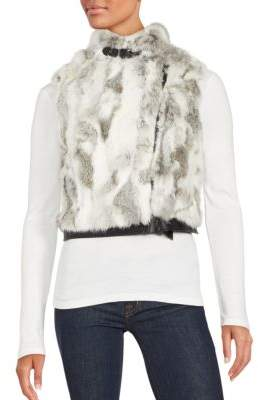 Saks Fifth Avenue Rabbit Fur Moto Vest