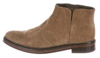 Lanvin Suede Pointed-Toe Boots