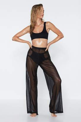 Nasty Gal Plain Sailing Sheer Cover-Up Pants