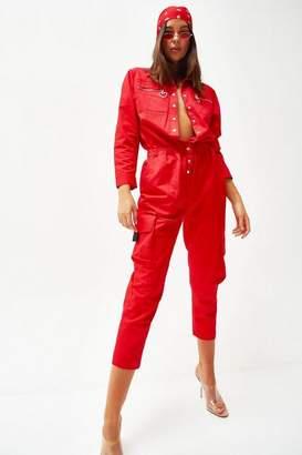 Jaded London Womens **Red Boiler Suit