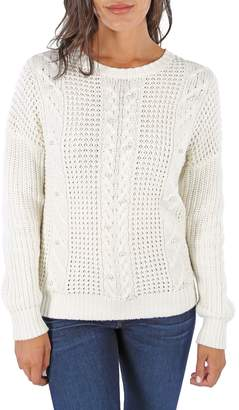 KUT from the Kloth Lenora Faux Pearl Cotton Cable Sweater