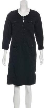 Gerard Darel Long Sleeve Knee-Length Dress