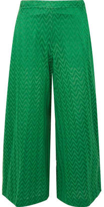 Missoni Crochet-knit Wide-leg Pants - Green