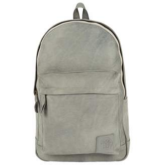 MAHI Leather - Leather Classic Backpack Rucksack in Vintage Grey