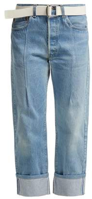 Summa - Dylan Mid Rise Turn Up Cuff Jeans - Womens - Blue