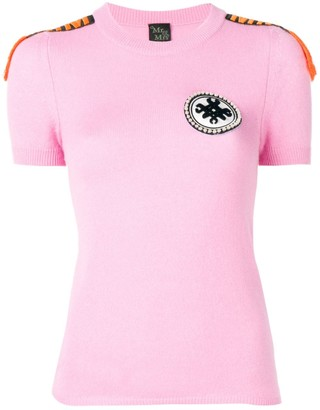 Mr & Mrs Italy embellished cashmere T-shirt