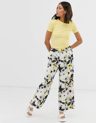 Monki printed wide leg pants