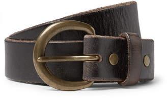 RRL - 3cm Dark-Brown Terrance Leather Belt