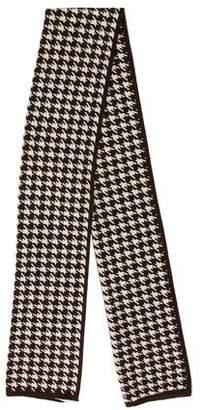 Celine Houndstooth Knit Scarf